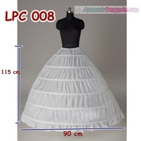 Jual Petticoat Wedding Panjang (6Ring) l Rok Dalaman Gaun Pengantin -LPC008