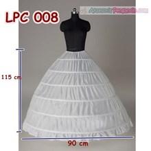 Petticoat Wedding Panjang (6Ring) l Rok Dalaman Gaun Pengantin -LPC008