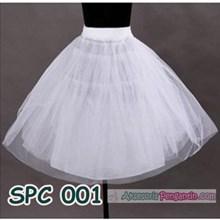 Petticoat Pengembang Rok Mini Dress l Rok tutu Balet Putih - SPC 001