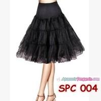 Rok Tutu Pengembang Dress Hitam l Rok Petticoat Gaun Pesta - SPC 004