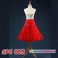 Rok Tutu Pengembang Dress Merah l Rok Petticoat Gaun Pesta - SPC 005