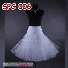 Rok Tutu Rok Pengembang Dress Putih l Rok Petticoat Gaun Pesta-SPC 006