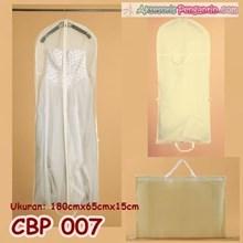 Tas Pelindung Baju Pesta White (p180cm) l Cover Gaun Pengantin - CBP 007