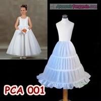 Jual Petticoat Anak l Rok Tutu Pengembang Gaun Pesta Anak 3 Ring - PCA 001