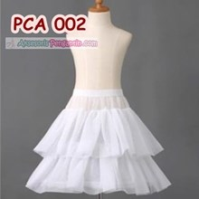 Petticoat Anak l Rok Pengembang Mini Dress Anak (1Hoop 2Layer)-PCA 002