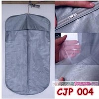 Bungkus Cover Organizer Pelindung Baju Jaket Coat Jas Pesta Grey-CJP 004