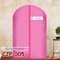 Cover Pelindung Baju Jaket Jas Pesta dari Debu Kotoran Hot Pink-CJP005