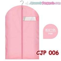Cover Pelindung Baju Jaket Jas Pesta dari Debu Kotoran SoftPink-CJP006