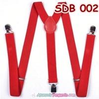 Suspender Wedding Merah Pria Atau  Wanita -Tali Baju Bretel Suspender- SDB 002