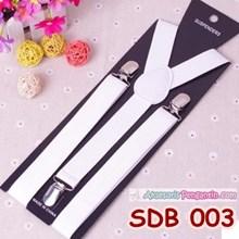 Suspender Wedding Putih Pria Atau  Wanita-Tali Baju Bretel Suspender-SDB003