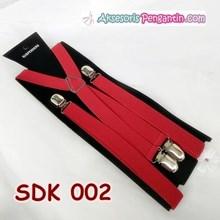 Suspender Pesta Merah Pria Aksesoris Tali Baju Bretel Kecil- SDK 002