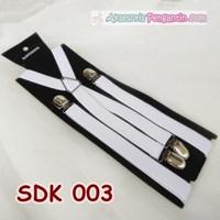 Suspender Pesta Putih Pria l Aksesoris Tali Baju Bretel Kecil- SDK 003