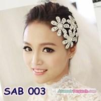 Hiasan Jepit Rambut Bunga l Aksesoris Pesta Pengantin Wanita - SAB 003