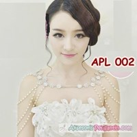 Jual Bolero Mutiara l Aksesoris Cardigan Gaun Pengantin Wanita - APL 002