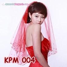 Kerudung Pengantin merah Modern l Slayer Atau Veil Wedding- KPM 004