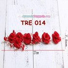 Aksesoris Rambut Pesta Merah-Hiasan Tiara Pengantin Emas Wanita-TRE014 2