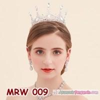 Jual Crown Mahkota Pengantin Wanita Full - Aksesoris Rambut Wedding-MRW 009