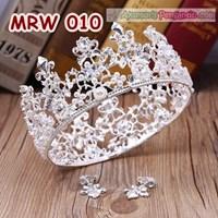 Crown Mahkota Pesta Wedding Wanita Full- Aksesoris Tiara Rambut-MRW010