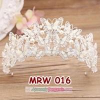 Aksesoris Mahkota Rambut Pengantin l Crown Pesta Wedding Modern-MRW016