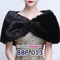 Bolero Bulu Lengan Panjang Merah Pengantin l Cardigan Wedding -BBP 013 1