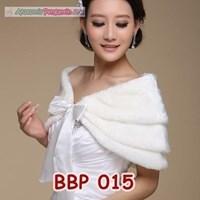 Distributor Bolero Bulu Lengan Panjang Merah Pengantin l Cardigan Wedding -BBP 015 3