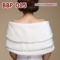 Jual Bolero Bulu Lengan Panjang Merah Pengantin l Cardigan Wedding -BBP 015 2
