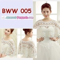 Aksesoris Bolero Pesta Lace Putih Wedding l Cardig