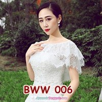 Aksesoris Bolero Pesta Lace Putih Pengantin l Cardigan Wedding-BWW 006