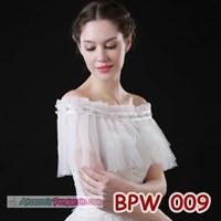 Bolero Pesta Pengantin Modern l Cardigan Wedding Putih Wanita- BPW 009 Murah 5