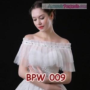 Bolero Pesta Pengantin Modern l Cardigan Wedding Putih Wanita- BPW 009