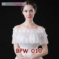 Bolero Pesta Pengantin Wanita l Cardigan Gaun Wedding Putih - BPW 010