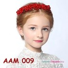 Aksesoris Rambut Sanggul Anak l Headpiece Pesta Mutiara Merah -AAM 009 2