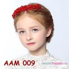 Aksesoris Rambut Sanggul Anak l Headpiece Pesta Mutiara Merah -AAM 009 1