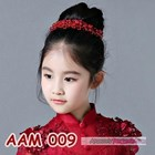 Aksesoris Rambut Sanggul Anak l Headpiece Pesta Mutiara Merah -AAM 009 3