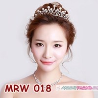 Jual Aksesoris Mahkota Rambut Pesta Wedding - Crown Pengantin Wanita-MRW 018