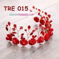 Beli Aksesoris Rambut Bunga Pengantin Merah l Hiasan Tiara Pesta - TRE 015 4