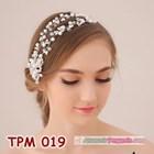 Aksesoris Sanggul Rambut Pengantin l Tiara Pesta Mutiara Modern-TPM019 1