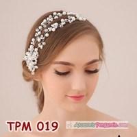 Jual Aksesoris Sanggul Rambut Pengantin l Tiara Pesta Mutiara Modern-TPM019