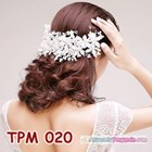 Aksesoris Sanggul Pesta Pengantin Modern l Tiara Rambut Wedding-TPM020 5