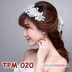 Aksesoris Sanggul Pesta Pengantin Modern l Tiara Rambut Wedding-TPM020