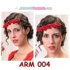 Aksesoris Rambut Sanggul l Headpiece Pesta Mutiara Merah Wanita-ARM004 6