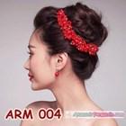 Aksesoris Rambut Sanggul l Headpiece Pesta Mutiara Merah Wanita-ARM004 1