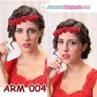 Aksesoris Rambut Sanggul l Headpiece Pesta Mutiara Merah Wanita-ARM004 5