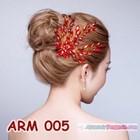 Aksesoris Sanggul Pesta l Headpiece Mutiara Merah Pengantin - ARM 005 3
