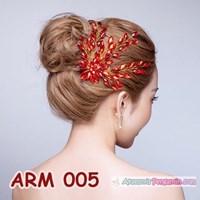 Distributor Aksesoris Sanggul Pesta l Headpiece Mutiara Merah Pengantin - ARM 005 3