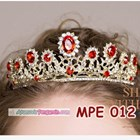 Mahkota Wanita Wedding Merah Wanita l Aksesoris Rambut Pengantin-MPE 012 6