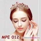 Mahkota Wanita Wedding Merah Wanita l Aksesoris Rambut Pengantin-MPE 012 3