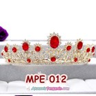 Mahkota Wanita Wedding Merah Wanita l Aksesoris Rambut Pengantin-MPE 012 4