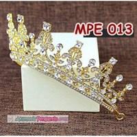 Jual Mahkota Pesta Pengantin Emas l Aksesoris Rambut Wedding Wanita-MPE 013 2
