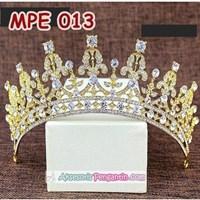Distributor Mahkota Pesta Pengantin Emas l Aksesoris Rambut Wedding Wanita-MPE 013 3